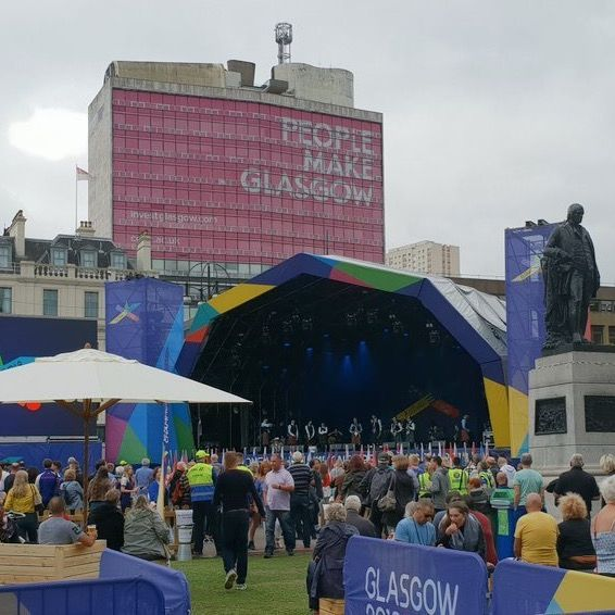 Artists perform at George Square in Glasgow